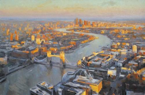The City from the Shard by Edward Noott RBSA