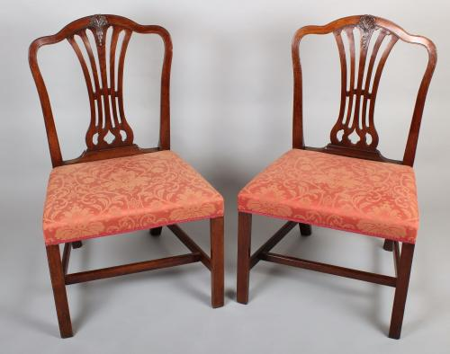 Pair of George III mahogany side-chairs