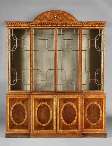A George III Breakfront Bookcase Attributed Mayhew & Ince