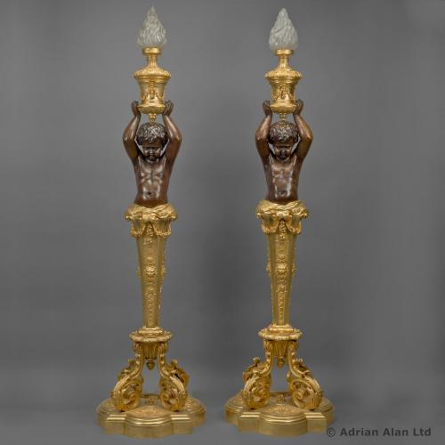 Figural Torcheres by Goelzer and Poumaroux ©AdrianAlanLtd