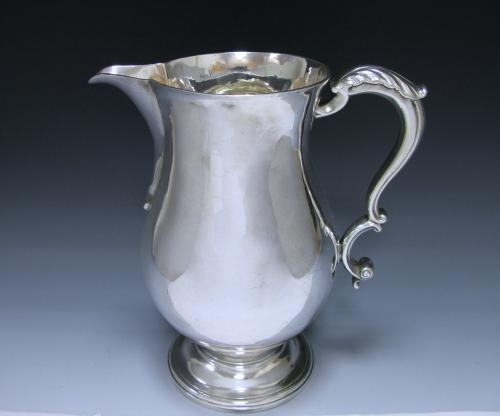 George III Sterling Silver Beer/Water Jug Made by William Grundy in 1768 of large size