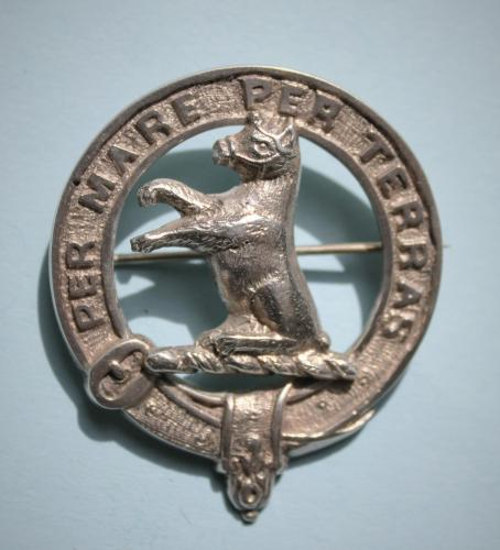ALEXANDER Antique Sterling Silver Scottish Clan Badge by McKenzie and Co. Scotland circa 1905