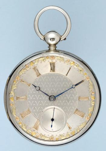 English Silver Dial Fusee Lever Pocket Watch