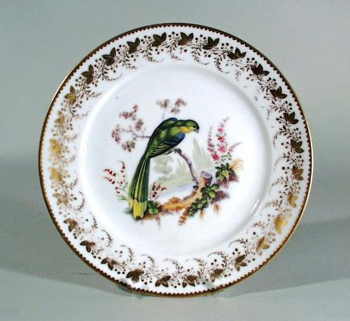 Antique London-decorated Paris Porcelain Plate,  Probably painted by Thomas Martin Randall, Circa 1815-20.