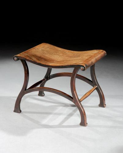Chippendale Period Mahogany Stool Hall Seat Bench Thomas Chippendale England Circa 1765