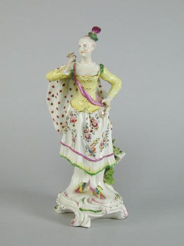Derby porcelain figure of a Ranelagh Dancer, c.1760