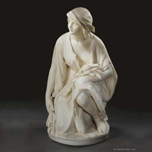 A Marble Figure of Ruth Gleaning by Romanelli ©AdrianAlanLtd