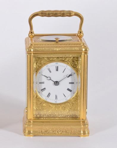 Drocourt, Paris: An Engraved Gorge Carriage Clock 5820