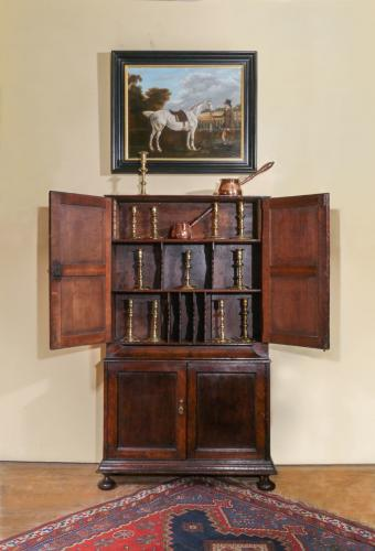 Small George I Oak Bookcase