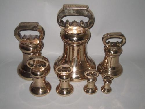 SET OF SEVEN IMPERIAL WEIGHTS FOR CUMBERLAND. 1855