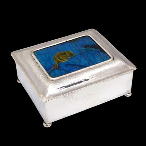 Guild Of Handicraft chameleon enamel box