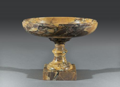 Grand Tour Regency Period 19th Century Sienna Brocatello Marble Tazza Italian Circa 1830