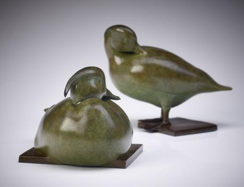 Jonathan Knight Tufted Ducks Bronze Sculpture Edition of 12 (Exclusive to Rowles Fine Art)
