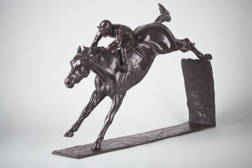 Philip Blacker AP McCoy over the last! Bronze Sculpture Edition No 1 of 12 Signed & Numbered