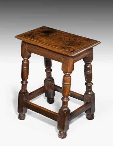 6644 Charles II Oak Joint Stool