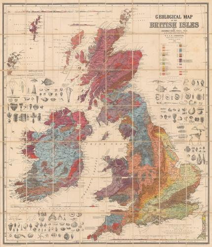 "Sir Archibald Geikie: ""Geological Map of the British Isles"""