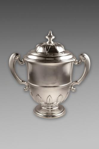 George V Sterling Silver Two Handled Trophy Cup and Cover