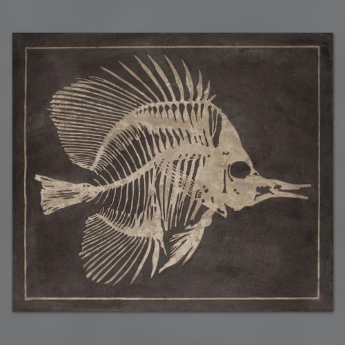 A PAIR OF SCAGLIOLA PANELS OF FISH