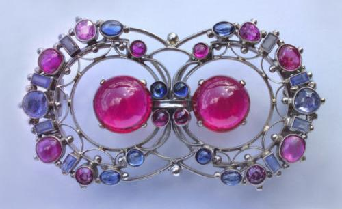 EDITH LINNELL (worked c.1900-c.1930) Wonderful Arts & Crafts Brooch