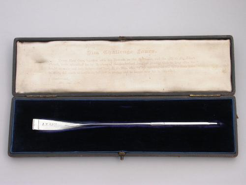 Victorian Cased Silver 'Sunderland Amateur Rowing Club' Commemorative Prize Oar
