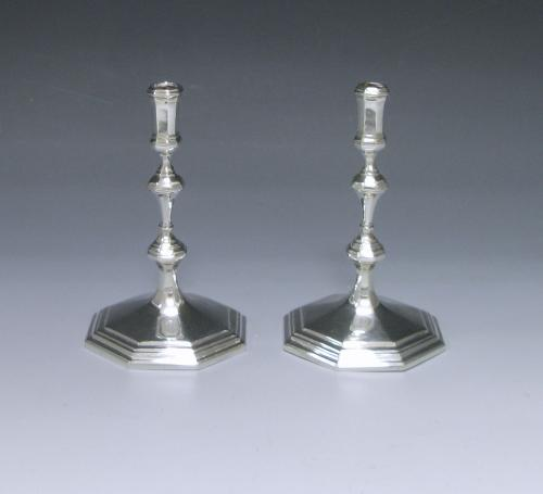 Pair of Antique Sterling Silver Tapersticks