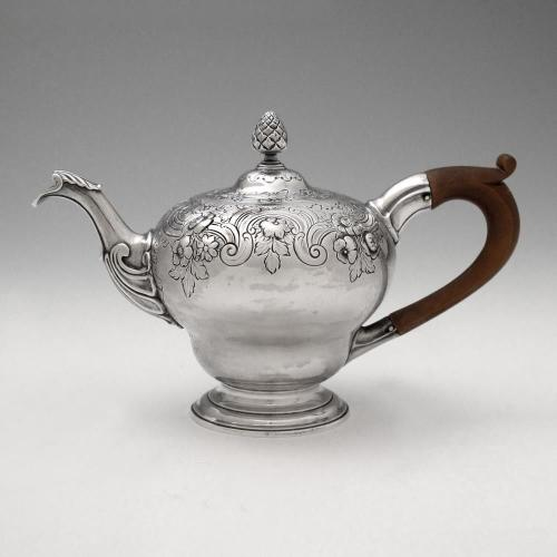 A George II Antique English Silver Teapot