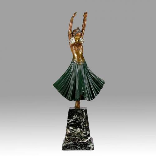 "Art Deco Cold Painted Bronze Entitled  ""Hindu Dancer"" by Chiparus"