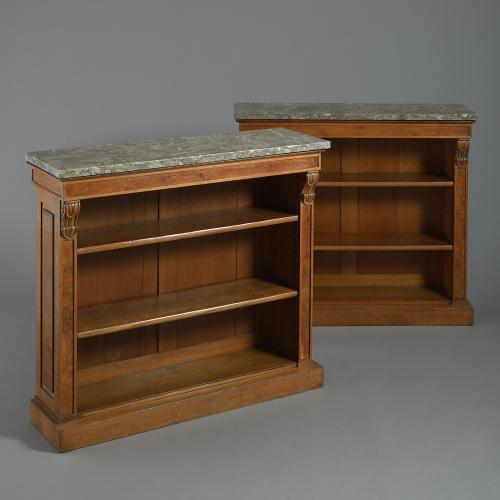 George IV oak bookcases