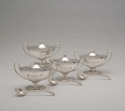 A Set of Four George III Antique Sauce Tureens