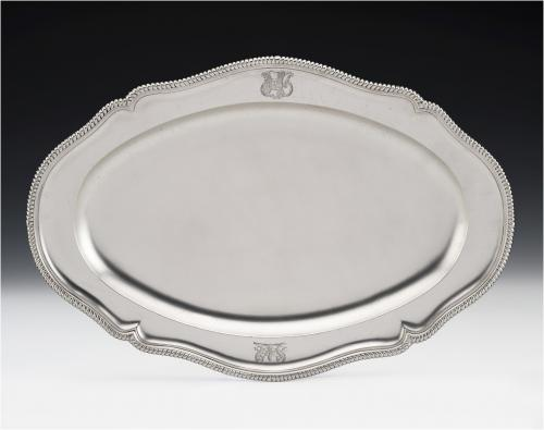 FREDERICK KANDLER. An unusual George III Salmon Dish made in London in 1776 by Frederick Kandler.