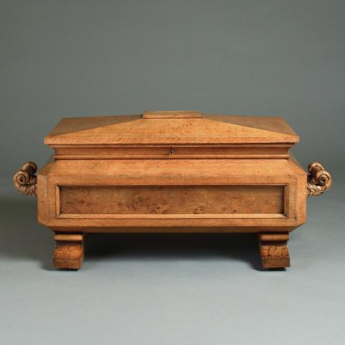 GEORGE IV OAK WINE COOLER