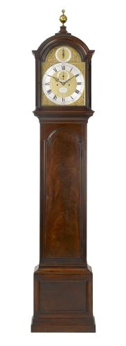 Thomas Mudge, London  A fine George III mahogany longcase clock. Circa 1765