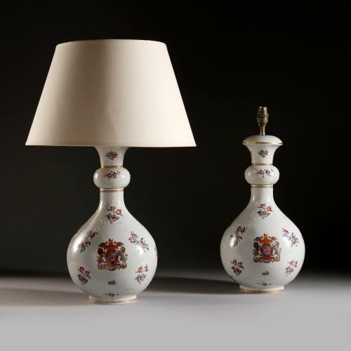 A Large Pair of Samson Armorial Vases