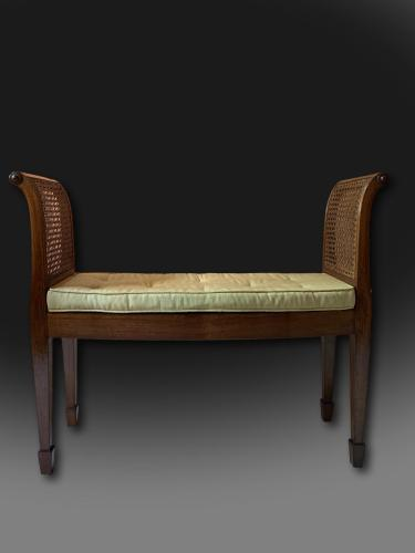 Rare George III Mahogany Bow Front Window Seat