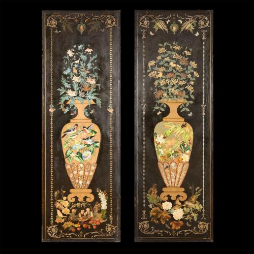 A pair of 19th century panels