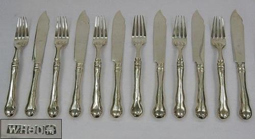 Antique Set Of Six Pairs Of Fish Eaters (China, c. 1900)