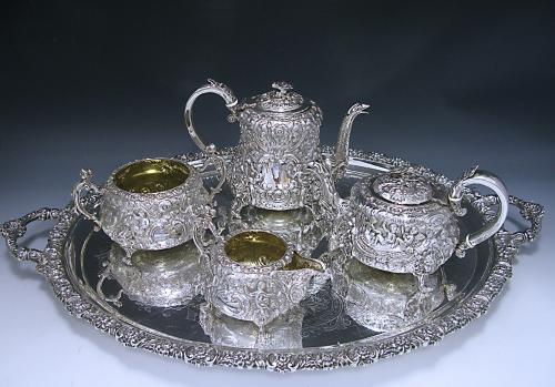 A George IV Four Piece Tea and Coffee Set