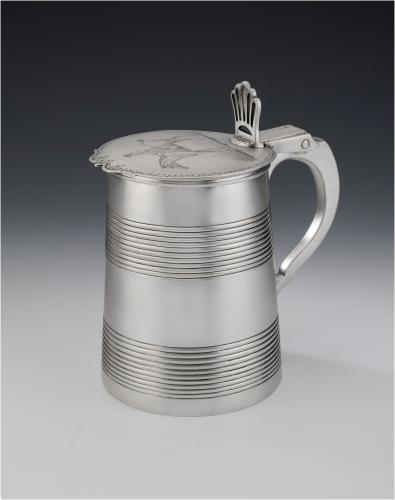 An extremely rare George III Equestrian Tankard made in London in 1782 by William Cattell
