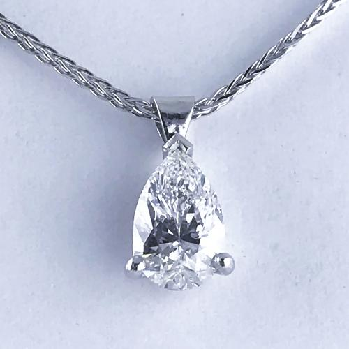 Pear Shape Diamond Drop Pendant c1960