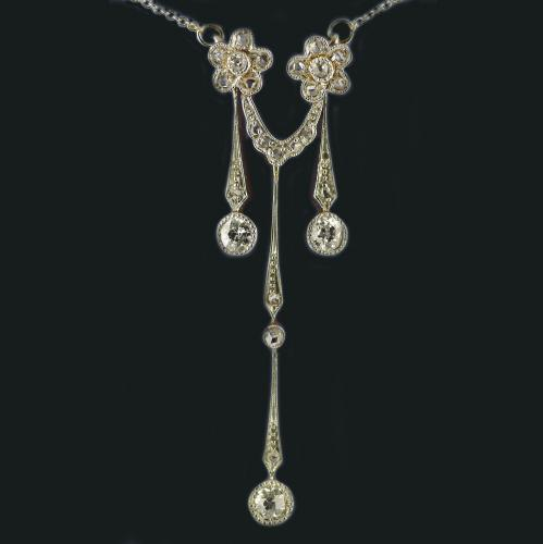 18ct Gold, Diamond, Edwardian Pendant circa 1910
