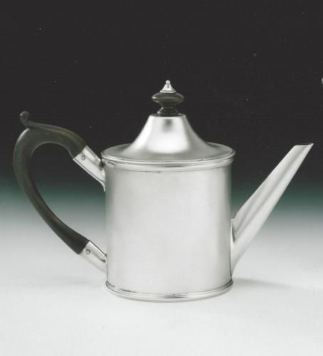 An extremely rare George III Bachelor/Saffon Teapot made in York in 1799 by Hampston, Prince & Cattles