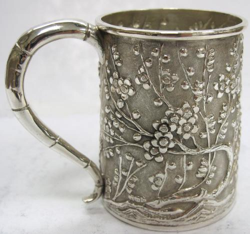 Small Antique Chinese Silver Mug