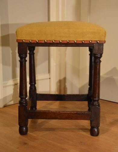 Mid 17th Century oak stool
