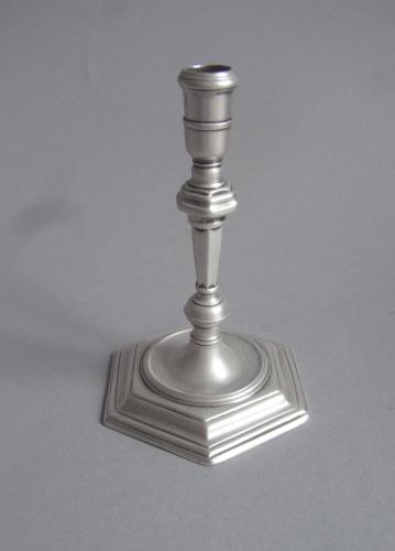 A very fine early George II Cast Taperstick made in London in 1731 by Thomas Mason