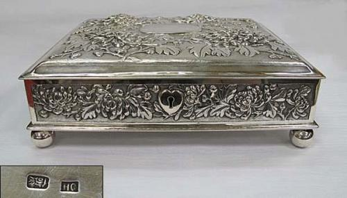 Antique Chinese Silver Casket
