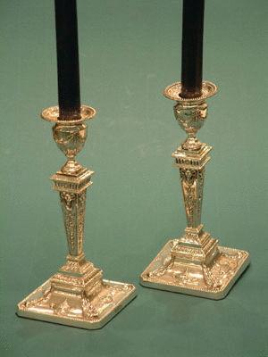 Pair of Sterling Silver Candlesticks 1902
