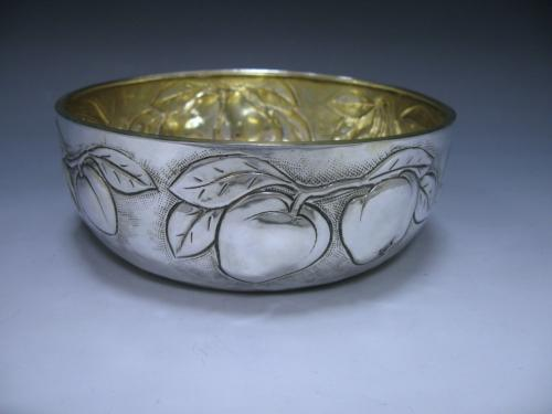 An Italian Silver Fruit Bowl