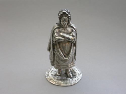 Scottish Novelty Silver Newhaven Fishwife Pepper