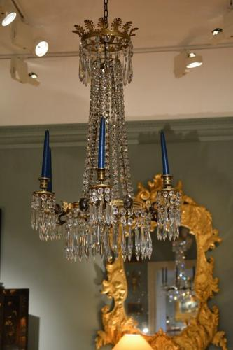 A high quality early 19th Century cut glass chandelier in the manner of Thomas Hope