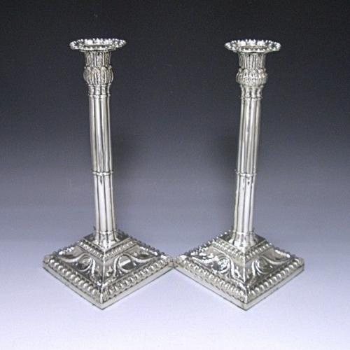 Pair Antique Candlesticks